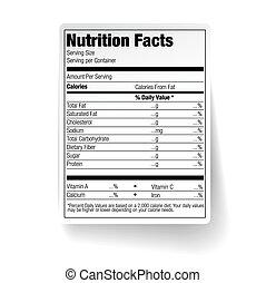 feiten, voeding, voedingsmiddelen, etiket