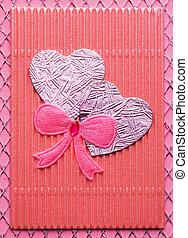feito à mão, cartão, valentine