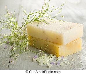 feito à mão, soap., spa, produtos