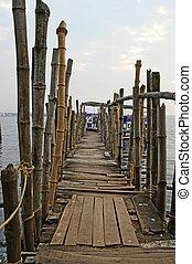 feito, antigas, kerala, índia, ??of, barcos, cochin, cais,...