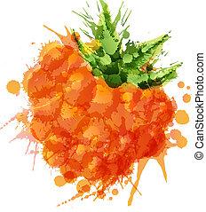 feito, coloridos, cloudberry, esguichos, fundo, branca