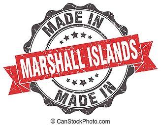 feito, em, ilhas marshall, redondo, selo