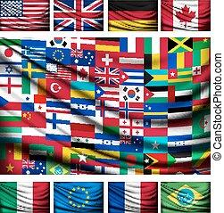 feito, grande, bandeira, fundo, país, mundo, flags.