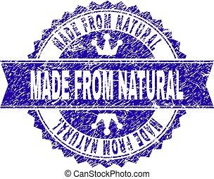 feito, grunge, selo, selo, textured, natural, fita