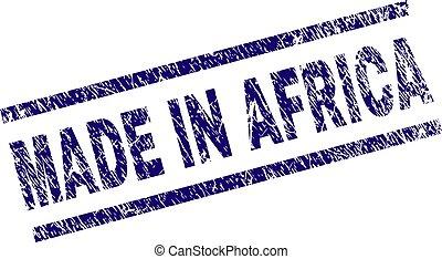 feito, grunge, selo, textured, áfrica, selo