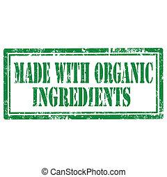 feito, orgânica, ingredientes