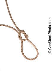 feito, robusto, corda, experiência., hanging., ??of, branca,...