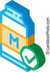 fej palack, ikon, ábra, isometric, vektor