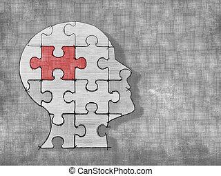 fej, rejtvény, emberi