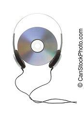 fejhallgató, digitális, korong