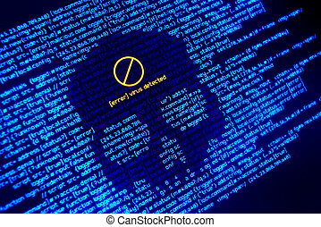 fejl, virus, detected, baggrund