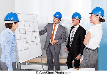 fejteget, terv, építész