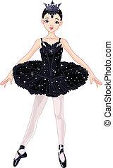 fekete, balerina