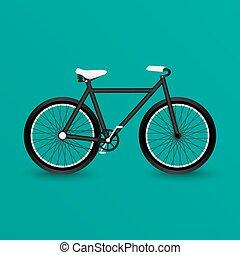 fekete, bicikli