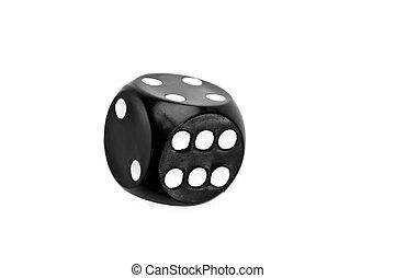 fekete, dobókocka, indítvány