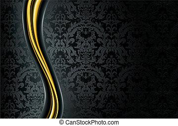 fekete, fényűzés, háttér
