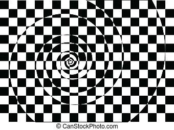 fekete-fehér, hipnotikus, háttér