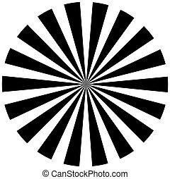 fekete-fehér, hipnotikus, háttér.
