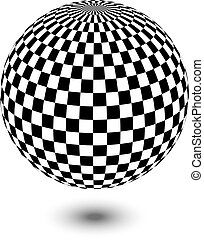 fekete-fehér, labda