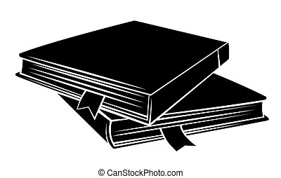 fekete, könyv, árnykép
