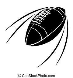 fekete, labdarúgás, árnykép