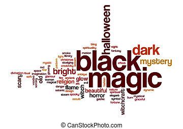 fekete mágia, szó, felhő