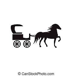 fekete, mód, ikon, white ló, kocsi, lakás