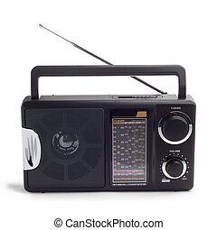 fekete, rádió, elszigetelt