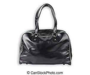 fekete, táska, megkorbácsol, izolál