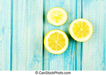 feláll, citrom, érett, fából való, szüret, vegetáriánus, cooking., étrend, táplálék., háttér., gyümölcs, recept, egészséges, gúnyol