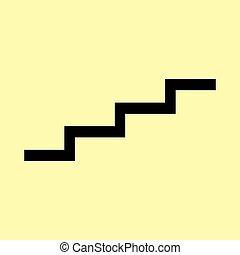 feláll, lépcsőfok, aláír