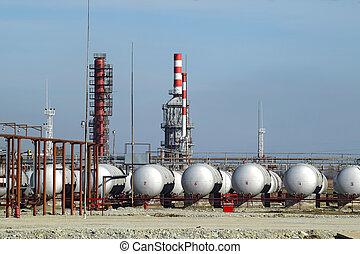 felüljáró, olaj tárolás, hajó, berakodás, termékek, ...