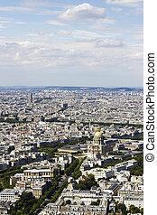 felülnézet, közül, párizs, franciaország, alapján, montparnasse