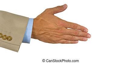 felajánlott, kéz