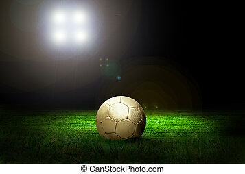 feld, fußball ball, stadion licht