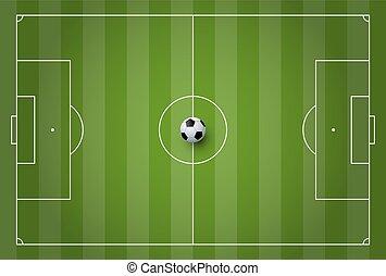 Fussball Vektor Feld Abbildung Fifa Markierung Vektor