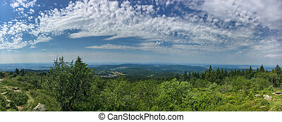 Panoramic view of Feldberg im Taunus on a sunny summer day
