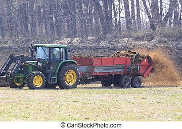 Felder, pflügen, Traktor