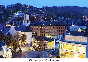 Feldkirch panorama at dawn