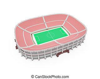 felett, fehér, stadion