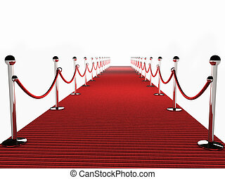 felett, szőnyeg, white háttér, piros