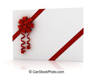 felett, white szalag, köszönés kártya