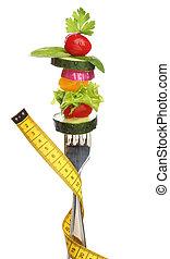 felfordulás növényi, képben látható, egy, villa, isolated., diéta, fogalom