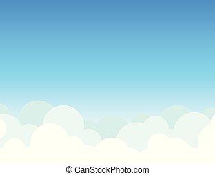 felhő, ég, háttér