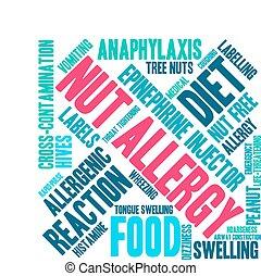 felhő, allergia, anyacsavar, szó