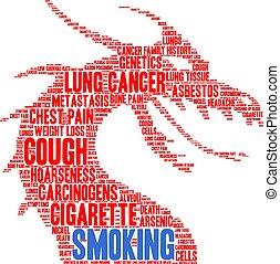 felhő, cigaretta, szó
