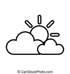 felhő, nap, időjárás, ég