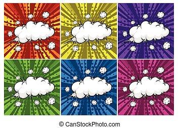 felhő, robbanások