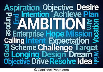 felhő, szó, ambíció