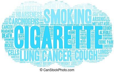 felhő, szó, cigaretta
